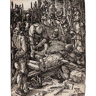 "Albrecht Durer ""Christ Nailed to the Cross"" (1511 Imp.)"