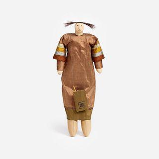 "Charla Khanna ""Walking Bag"" Fabric & Composite Doll"