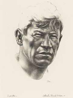 "Charles Banks Wilson (1918-2013) ""Superstar"" Lithograph"