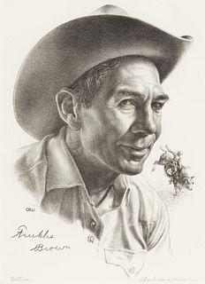 "Charles Banks Wilson (1918-2013) ""Bullrider"" Lithograph"