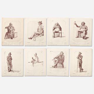 George Caleb Bingham (after) 8 Character Sketch Prints