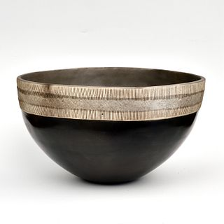 Large Smoke Fired Coil Bowl