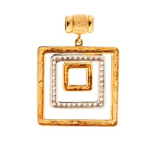 Pendant made in 18 Kt yellow gold