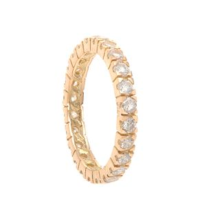 Ring made in 18 kt yellow gold, with 24 diamonds
