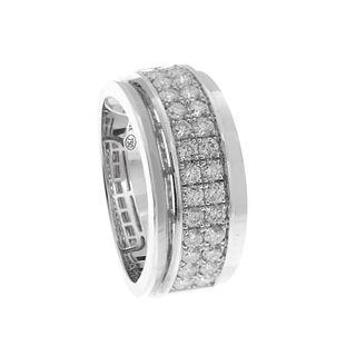 Ring in 18kt white gold
