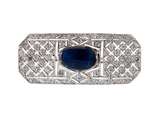 Brooch made of 18 Kts white gold