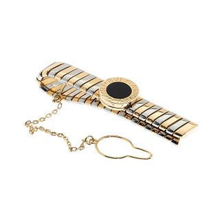 BVLGARI. Tie clip in 18kt white gold and 18kt yellow gold.