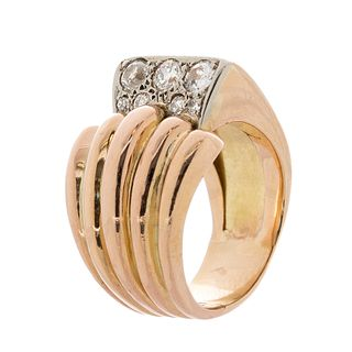 Chevalier ring in 18k yellow gold, ca. 1940.