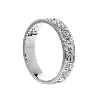 CARTIER Love Pavé wedding ring.