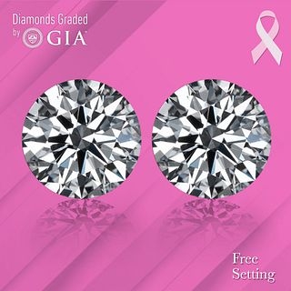 10.16 carat diamond pair Round cut Diamond GIA Graded 1) 5.08 ct, Color D, FL 2) 5.08 ct, Color D, FL . Appraised Value: $3,383,400