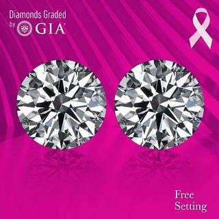 5.01 carat diamond pair Round cut Diamond GIA Graded 1) 2.50 ct, Color E, VVS1 2) 2.51 ct, Color E, VVS1 . Appraised Value: $245,500