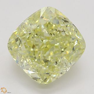 2.23 ct, Natural Fancy Yellow Even Color, VS2, Cushion cut Diamond (GIA Graded), Appraised Value: $36,000