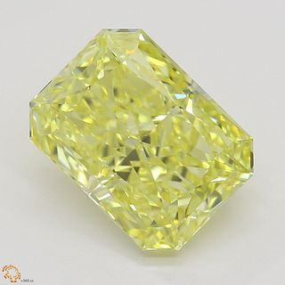 3.01 ct, Natural Fancy Intense Yellow Even Color, IF, Radiant cut Diamond (GIA Graded), Appraised Value: $192,000