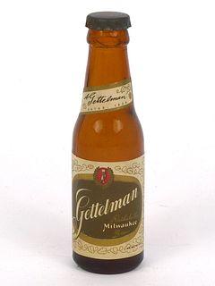 1955 Gettelman Rathskellar Beer  Mini Bottle WI-35