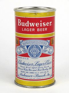 1952 Budweiser Lager Beer 12oz Flat Top Can 44-08