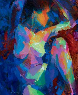 """SANTIAGO DIEGO SALADO (Jerez de la Frontera, 1965).  """"Nude"""", 1996.  Oil on canvas."""