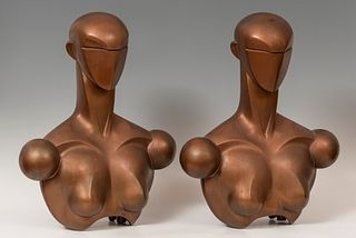 """ENRIC BUG (Port Bou, 1957).  """"Couple of mannequins"""", 1983.  Resin and fiberglass."""