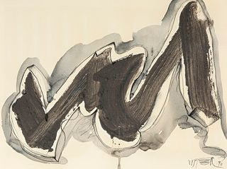 WOLF VOSTELL (Leverkusen, Germany 1932 - Berlin, 1998).  Untitled, 1990.  Mixed media on paper.