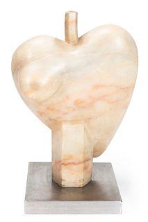 "XAVIER MEDINA CAMPENY (Barcelona, 1943).  ""Cuore ingrato"", New York, 1975.  Belgian marble."