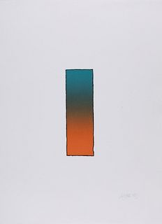 """LARRY BELL (USA, 1939). """"LB-1"""" 1989 Lithograph."""