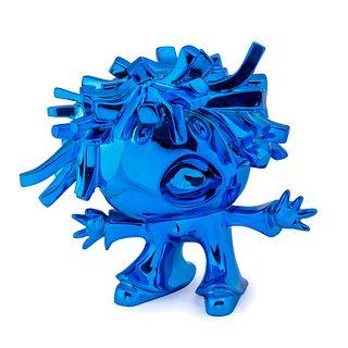 "XAVI CARBONELL (Alcoy, 1971).  ""Character.  Enameled resin sculpture."