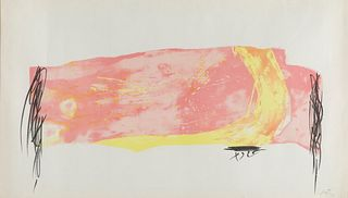 """ANTONI TÀPIES PUIG (Barcelona, 1923-2012).  Untitled, part of the series """"Nocturn Matinal"""", 1970.  Lithograph on Guarro paper, copy X."""