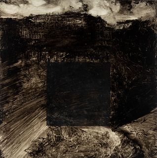 "SALVATORE GARAU (Italy, 1953).  ""Centrale idroelectrica"",  Acrylic on canvas."