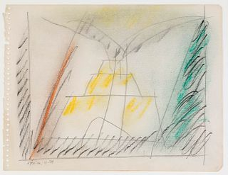 "ALBERT RÀFOLS CASAMADA (Barcelona, 1923 - 2009).  ""Sèrie Mèxic núm.4"", Mexico, 1979.  Pencil and pastel on paper."