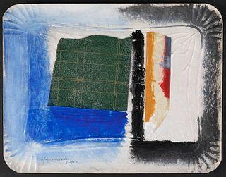 "ALBERT RÀFOLS CASAMADA (Barcelona, 1923 - 2009).  ""Safata"", 2000.  Painting and collage on cardboard tray."