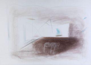 "ALBERT RÀFOLS CASAMADA (Barcelona, 1923-2009).  ""Matin"", 1993.  Pastel and pencil on paper."