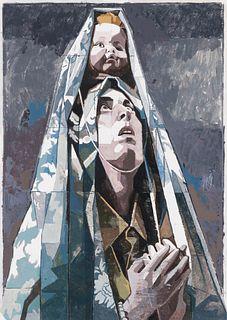 """VICTOR SOLANA (Zaragoza, 1985).  """"Ecstasy"""", 2018.  Acrylic on muddy paper."""