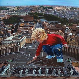"JOSÉ MARÍA MADRID SANZ (Madrid, 1957).  ""Great crossing"".  Oil on canvas."
