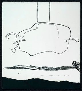 JOSEP GUINOVART BERTRAN (Barcelona, 1927 - 2007).  Untitled, 1969.  Wax on paper.