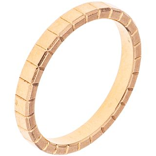 ANILLO EN ORO ROSA DE 18K DE LA FIRMA CHOPARD, COLECCIÓN ICE CUBE  Peso: 3.0 g. Talla: 6 ¼ | RING WITH 18K PINK GOLD, CHOPARD, ICE CUBE COLLECTION  We