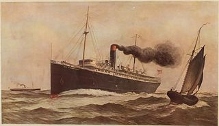 City of Montgomery, Savannah Lines Steamship Print