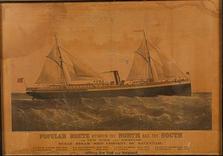 The Steam Ship 'City of Augusta', Lithograph