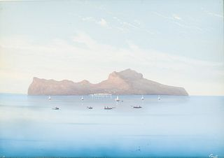 Giuseppe Corelli, Seascape, Gouache, Probably 19th C