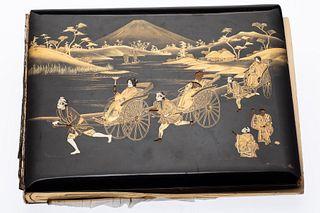 Book of Japanese Hand Tinted Albumen Prints, c. 1900