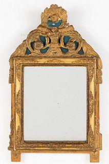 Continental Giltwood Mirror, 18/19th Century