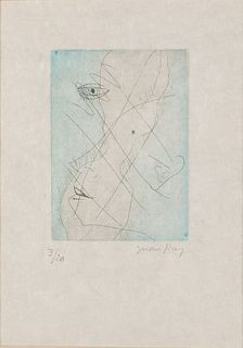 Man Ray, Les Chambres, Etching and Aquatint & Colors