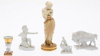 5 Classical Ceramic Figurines