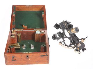 A 19TH CENTURY SEXTANT, BY H. HUGHES & SON, LONDON, serial number 37403, bl