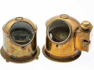 Two Brass Maritime Compasses