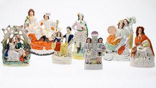 6 Staffordshire Figurines