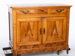 French Fruitwood Side Cabinet, 19th Century