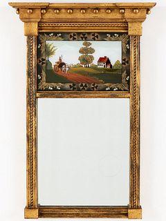 Federal Style Giltwood Mirror, 20th Century