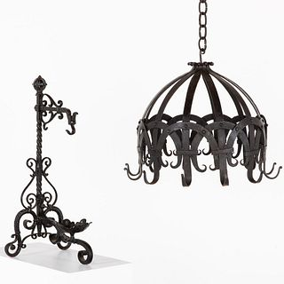 Wrought Iron Pot Rack and Fireplace Stand