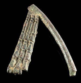 Egyptian Late Dynastic Leaded Bronze Flail / Flagellum