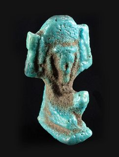 Egyptian Glazed Faience Shu Pendant