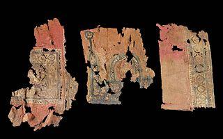 3 Egyptian Coptic Textile Panel Fragments